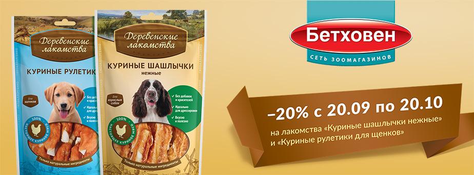 −20% c 20 сентября по 20 октября
